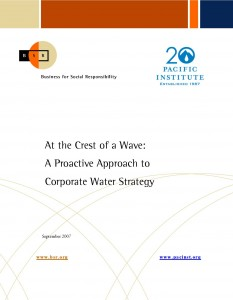 proactive approach to corporate water strategy Proactive management is the approach to management where the  the  company is forced to abandon their current strategy because of a.
