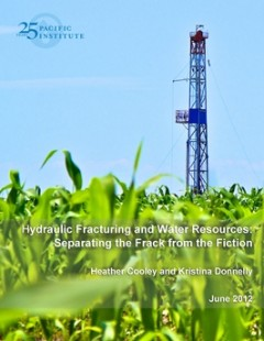 <a href=https://pacinst.org/publication/hydraulic-fracturing-and-water-resources-separating-the-frack-from-the-fiction/>Hydraulic Fracturing and Water Resources: Separating the Frack from the Fiction</a>