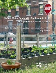 <a href=http://pacinst.org/publication/urban-water-demand-to-2100/>Urban Water Demand in California to 2100: Incorporating Climate Change</a>