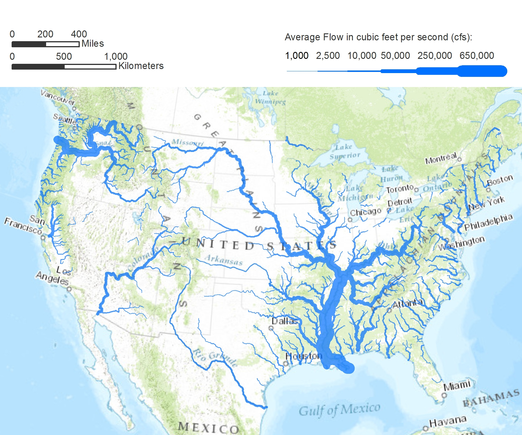 Western Us Rivers Map America's Rivers: A New Way of Seeing the Nation's Waters
