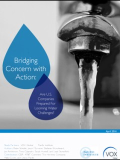 <a href=http://pacinst.org/publication/bridging-concern-with-action-are-us-companies-prepared-for-looming-water-challenges/>Bridging Concern with Action: Are US Companies Prepared for Looming Water Challenges?</a>