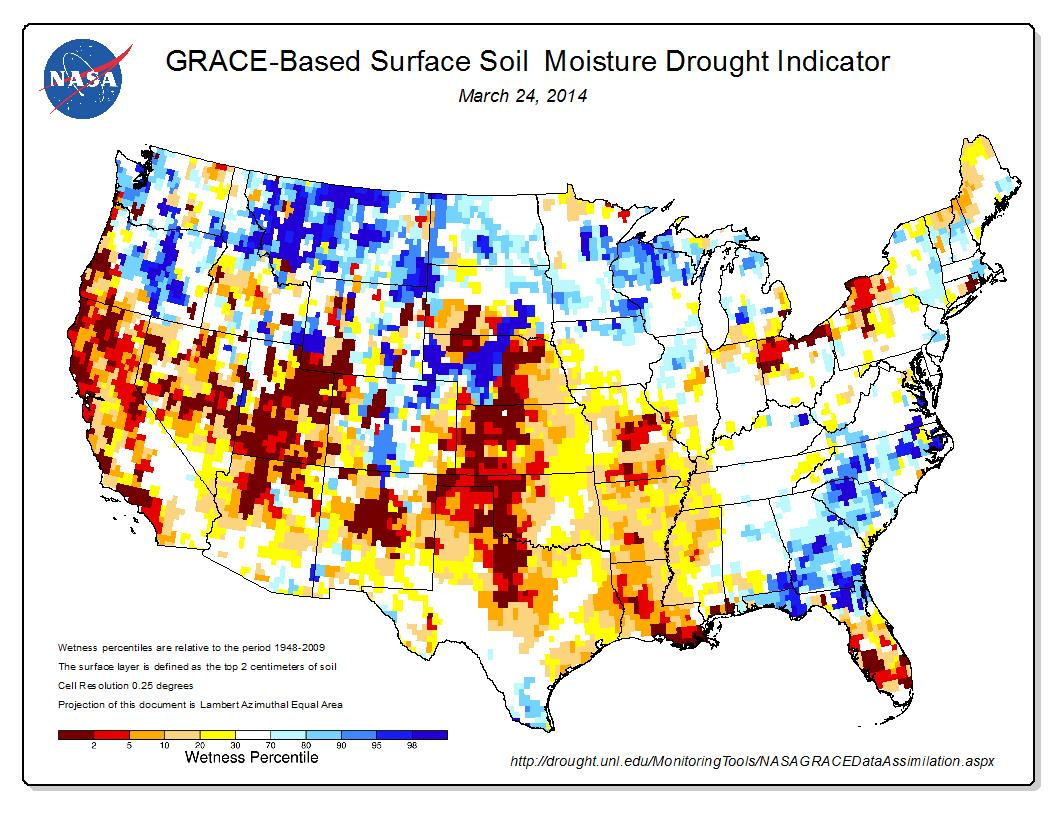 Update from the pacific institute california drought for Soil moisture
