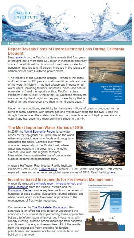 February 2016 newsletter