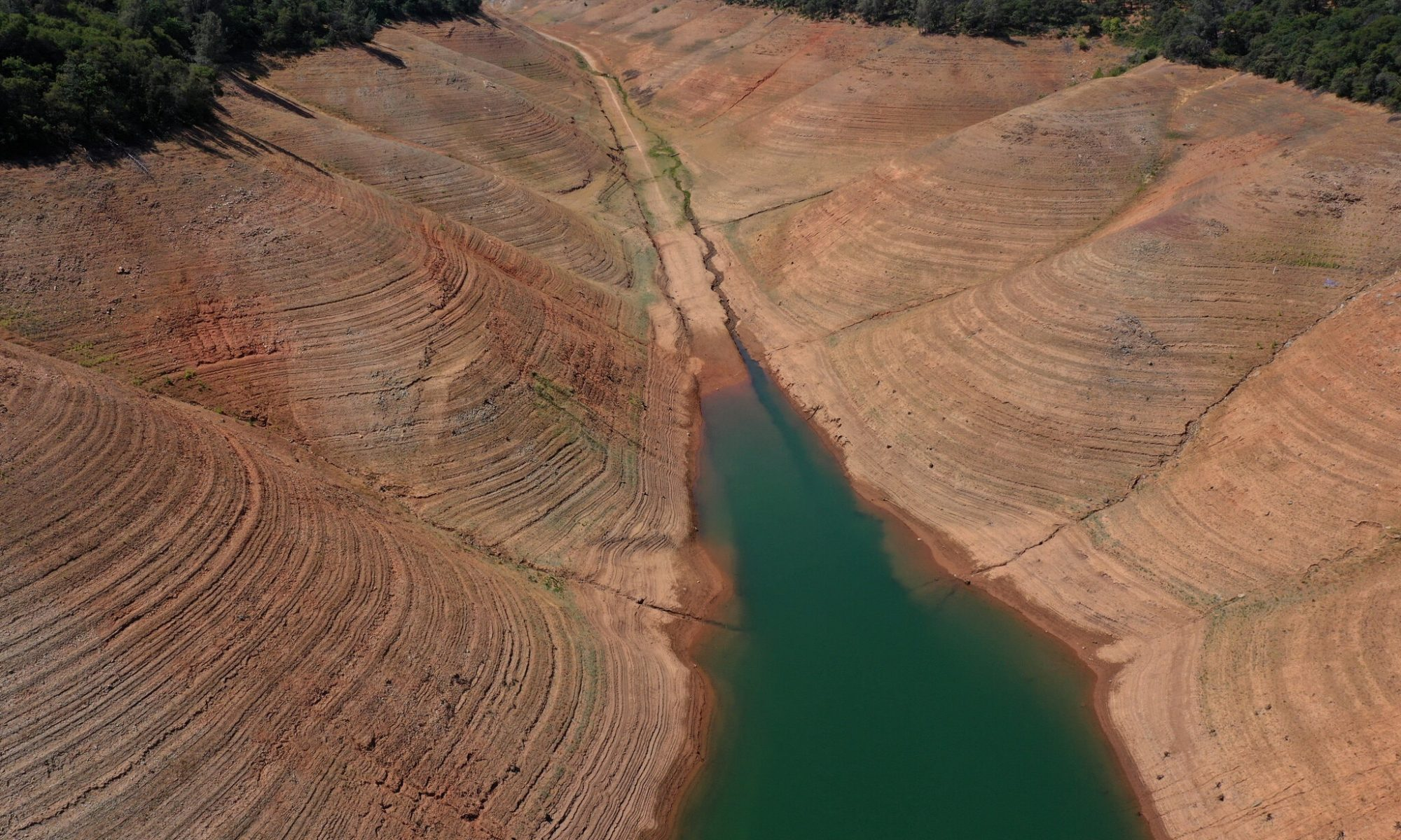 A river that is drying up