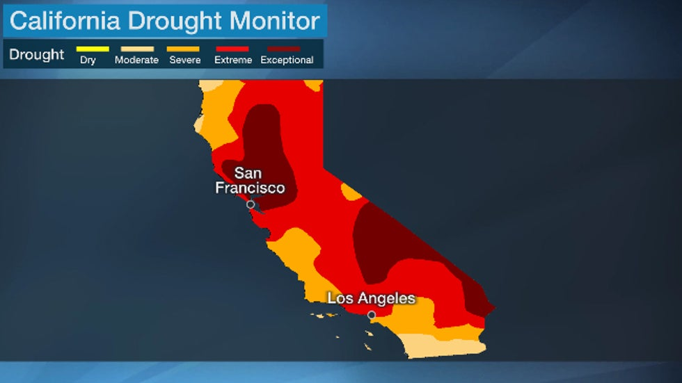 Map of California drought as of May 25, 2021